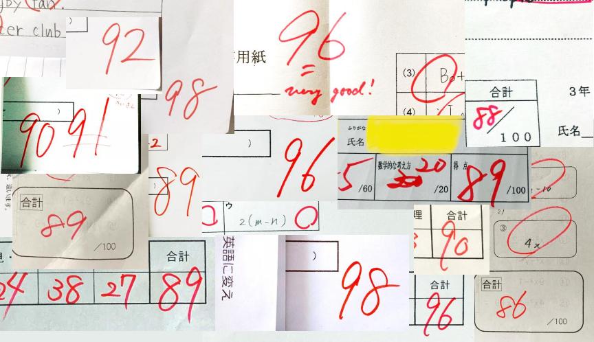 2020年1学期末テスト結果の画像