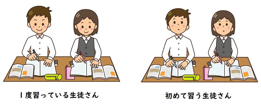 1度習っている生徒さんと初めて習う生徒さんの画像