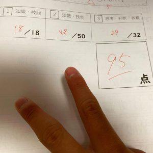 令和3年中1英語テスト2の画像